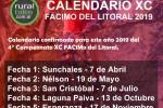 Nuevo calendario 2019 del XC FACiMo del Litoral